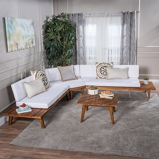 Image Gallery of Ellison Patio Sectionals With Cushions (View 15 .