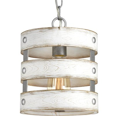 17 Stories Emaria 1 - Light Single Drum Pendant Finish: Grey .