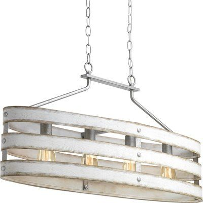 17 Stories Emaria 4-Light Pendant Shade Color: Antique White .