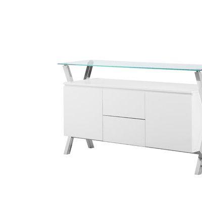 Wade Logan Emiliano Buffet Finish: White | White sideboard buffet .
