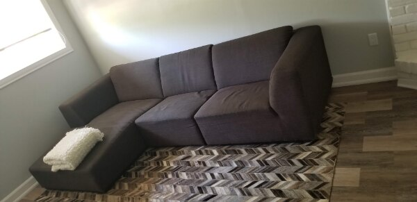 Used ***DARK GREY EQ3 SECTIONAL SOFA, ASKING $790 OBO!!!*** for .