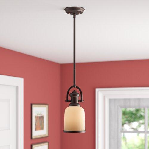 Alcott Hill Boornazian 1 - Light Single Bell Pendant & Reviews .