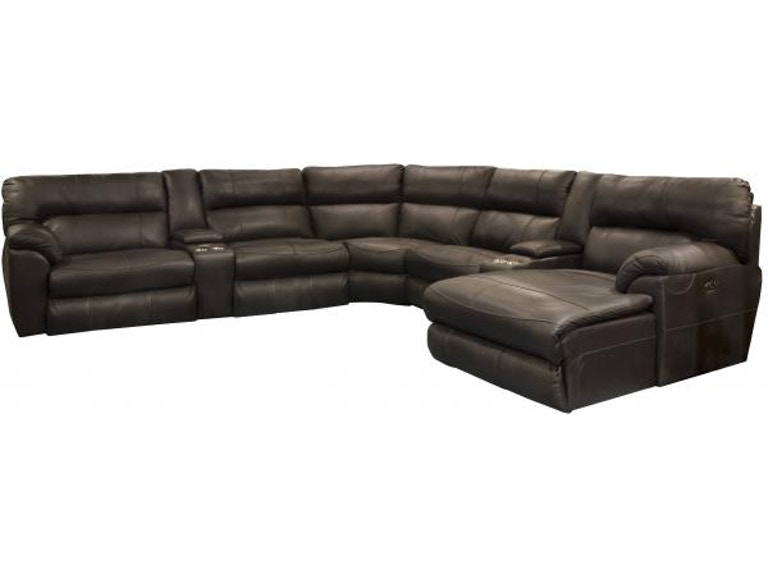 Catnapper Furniture Living Room Tivola Sectional 447-Sectional .