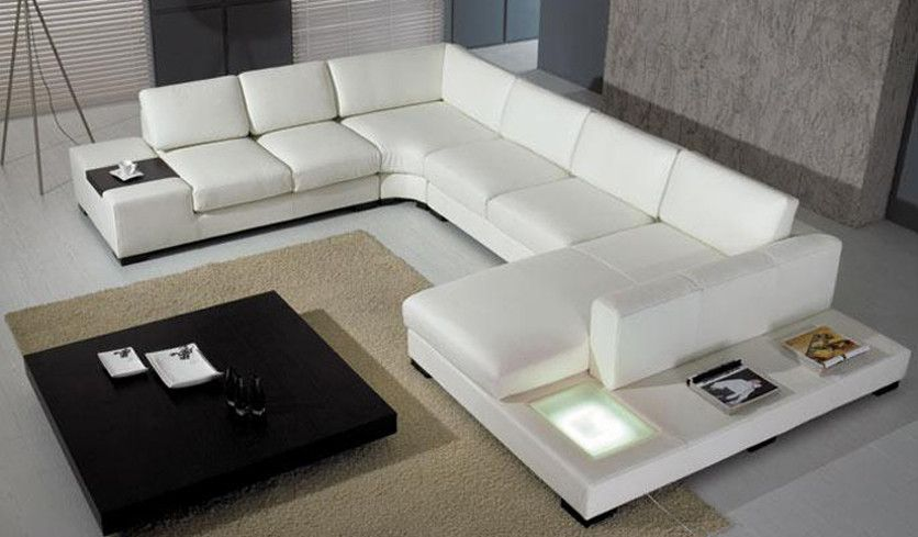 Extra Large U Shaped Sofa for Home | Leather couch sectional .