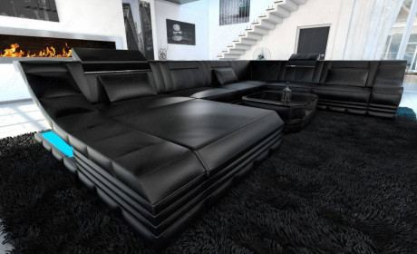 Extra Large Leather Sectionals | Large Modern Sofas | Sofadreams .