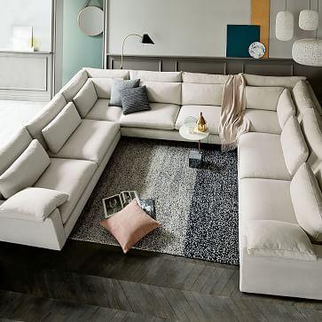 Modular - Harmony Sectional (Extra Deep) | U shaped sectional sofa .