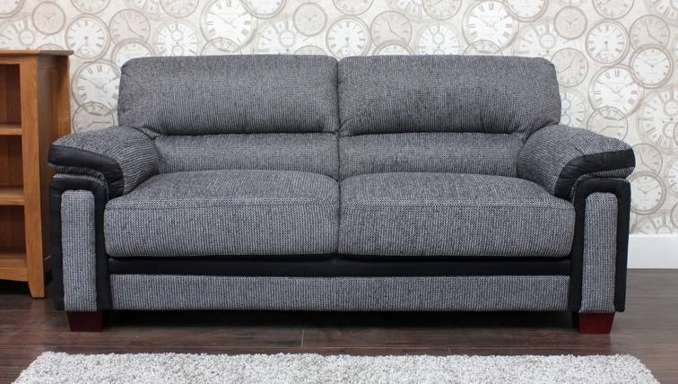 Memphis 3 Seater Fabric Sofa Gr