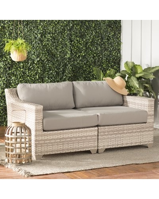 Amazing Deal on Falmouth Loveseat with Cushions Sol 72 Outdoorâ .
