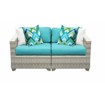 Falmouth Loveseat with Cushions & Reviews | AllMode