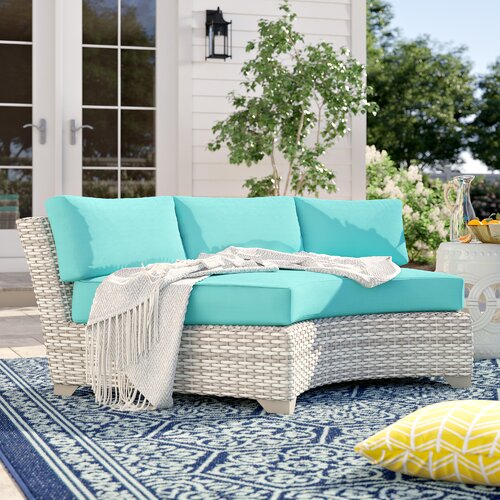 Sol 72 Outdoor Falmouth Patio Sofa with Cushions & Reviews | Wayfa