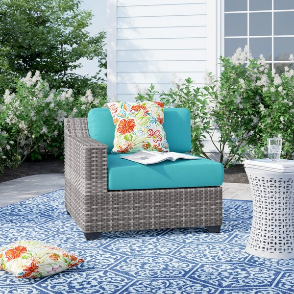 Sol 72 Outdoor Falmouth Right Arm Patio Chair with Cushions .