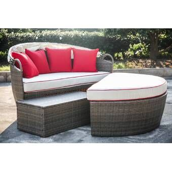 Olu Patio Daybed with Cushions | Porche, Pasc