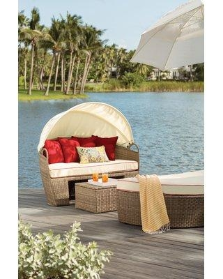 Deal. 62% Off Beachcrest Home Fansler Patio Daybed with Cushions .