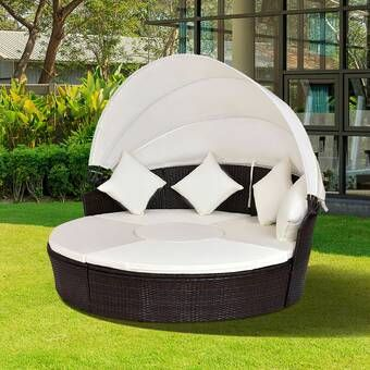 Fansler Patio Daybed with Cushions (With images) | Comfortable .