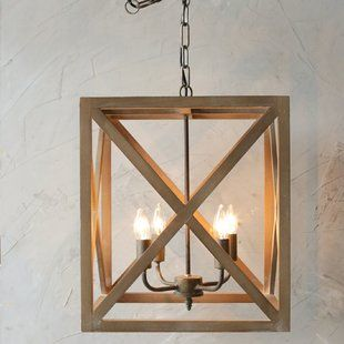 Darby Home Co Farrier 3-Light Lantern Pendant | Wayfair | Wood and .
