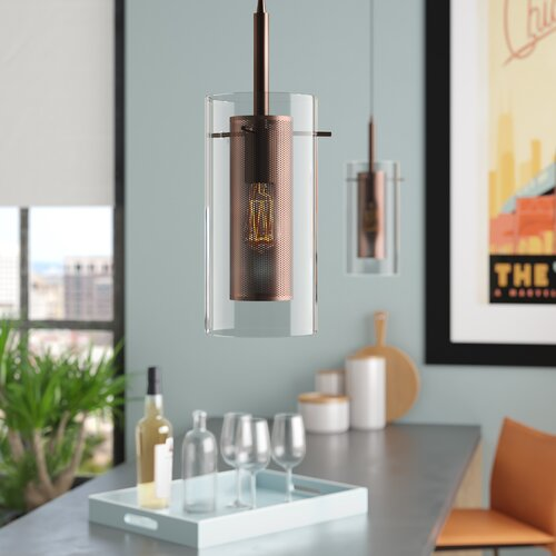 Orren Ellis Fennia 3-Light Cluster Cylinder Pendant & Reviews .