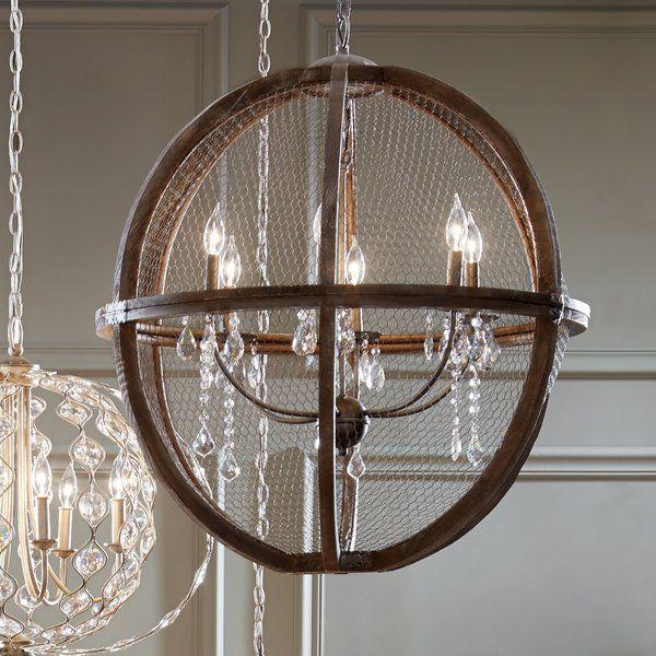 Filipe 3 - Light Candle Style Globe Chandelier   Globe chandelier .