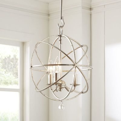 Filipe 3 - Light Candle Style Globe Chandelier | Globe chandelier .