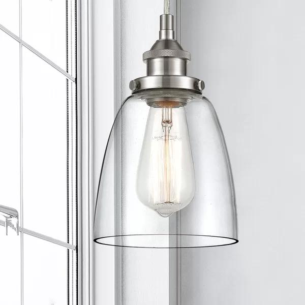 Finlayson 1-Light Single Bell Pendant | Bell pendant, Light, Cone .