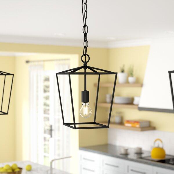 Andover Mills™ Finnick 1 - Light Lantern Geometric Pendant .