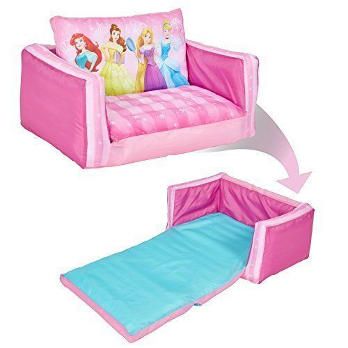 Kids Flip Out Sofa Inflatable Fun Nap Lounger Disney Princess 2 .