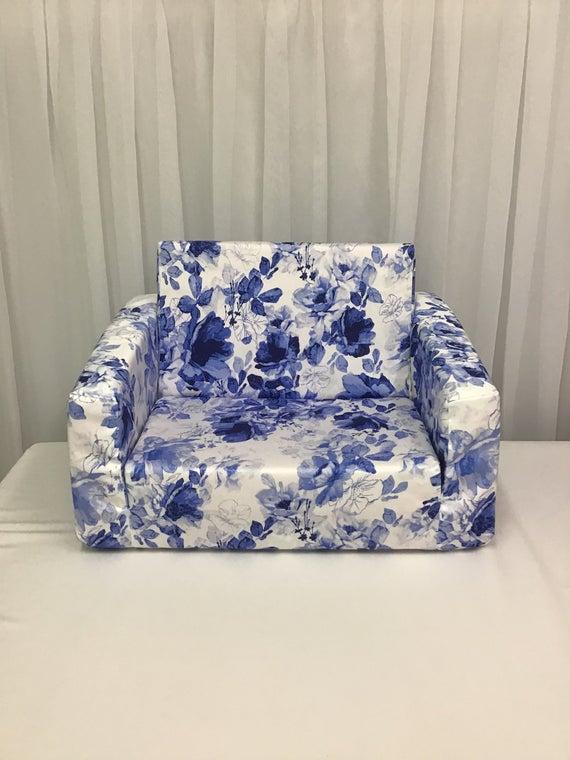 Original Flip out sofa cover FLOWERSKids couch cover   Et