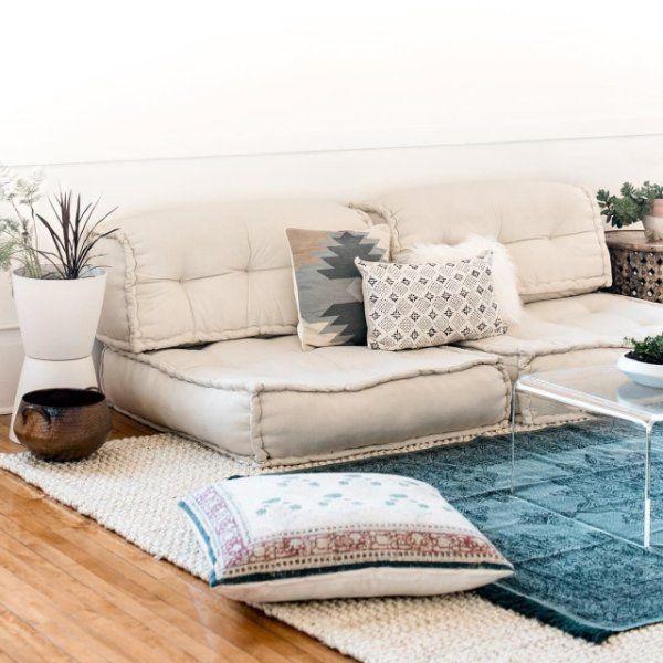 Reema Floor Cushion in 2020 | Floor seating living room, Floor .