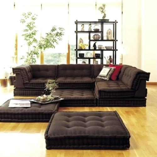 Floor Floor Cushion Sofa Lovely On With Regard To Couch 2 Triangle .
