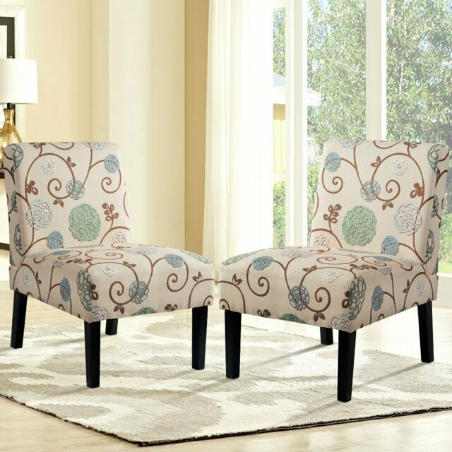 Skyline Furniture Multicolored Upholstered Floral-print Armless .