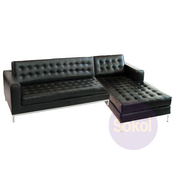 Replica Knoll Grand Corner Sofa - Aniline Leather | Leather corner .