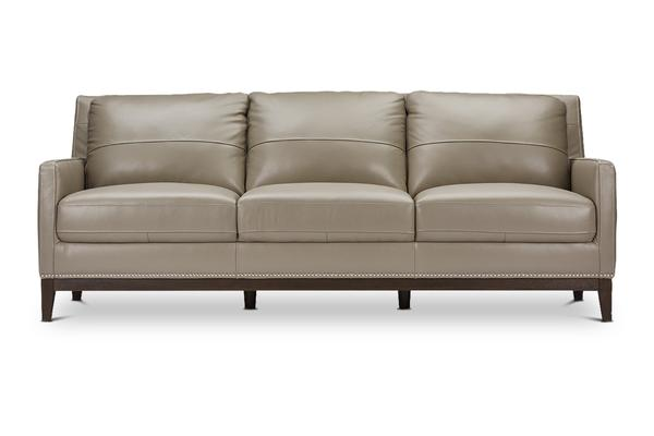 Florence Grey Leather Sofa - Modern Leather Sofas | Apt