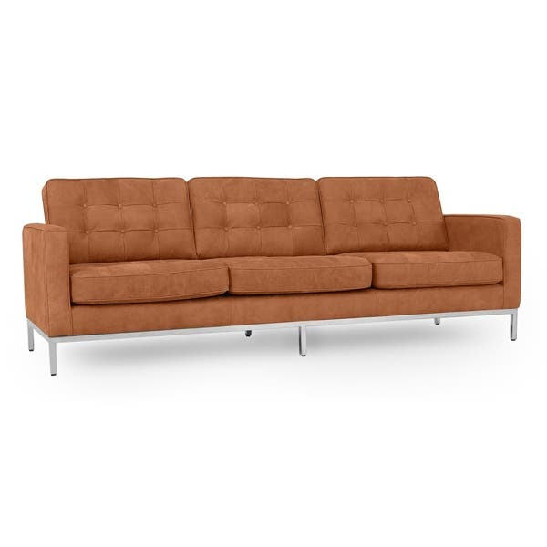 "Shop Kardiel Florence Mid-century Mod 89"" Sofa, Full Grain Aniline ."