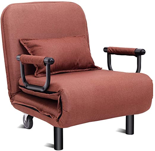 "Amazon.com: Giantex 26.5"" Convertible Sofa Bed Folding Arm Chair ."