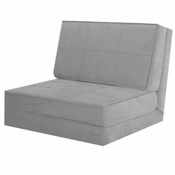Costway 30 in. Gray Cotton Full Sleeper Convertible Fold-Down Sofa .