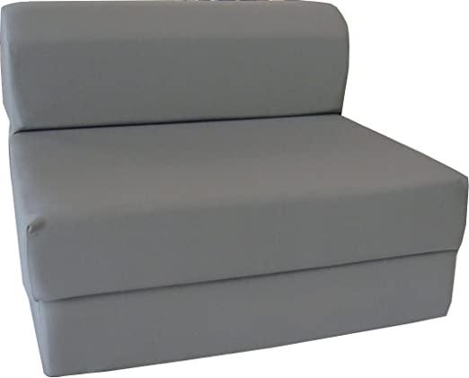 Amazon.com: D&D Futon Furniture Gray Sleeper Chair Folding Foam .