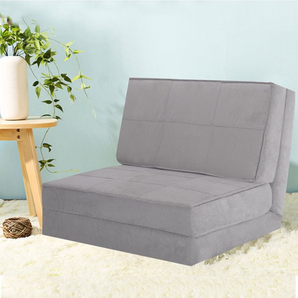 Costway Fold Down Chair Flip Out Lounger Convertible Sleeper Bed .