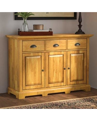 "New Bargains on Three Posts Fortville 52"" Wide 3 Drawer Rubberwood ."