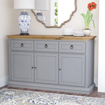 "Fortville 52"" Wide 3 Drawer Rubberwood Wood Sideboard   Darby home ."
