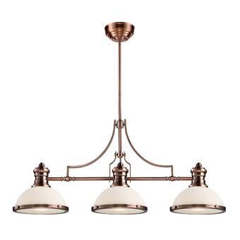 Trent Austin Design® Fredela 3 - Light Kitchen Island Linear .