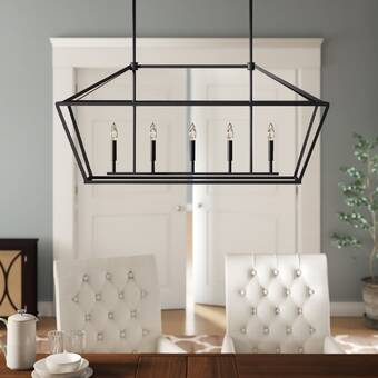 Laurel Foundry Modern Farmhouse Freemont 5-Light Kitchen Island .