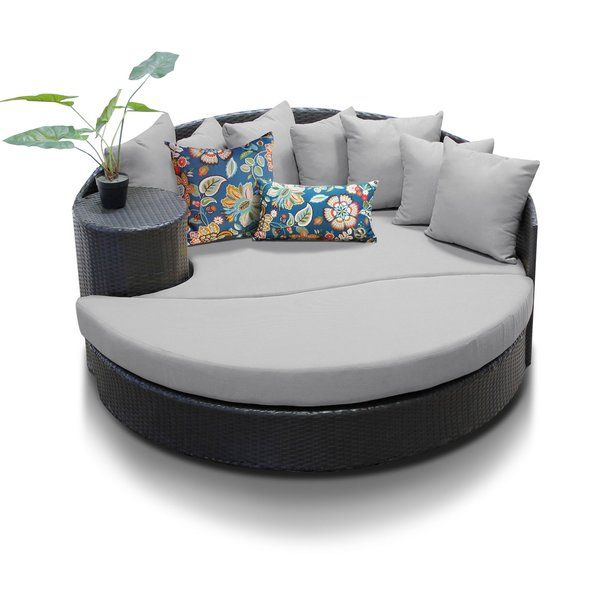 Freeport Patio Daybed with Cushion | Outdoor wicker patio .