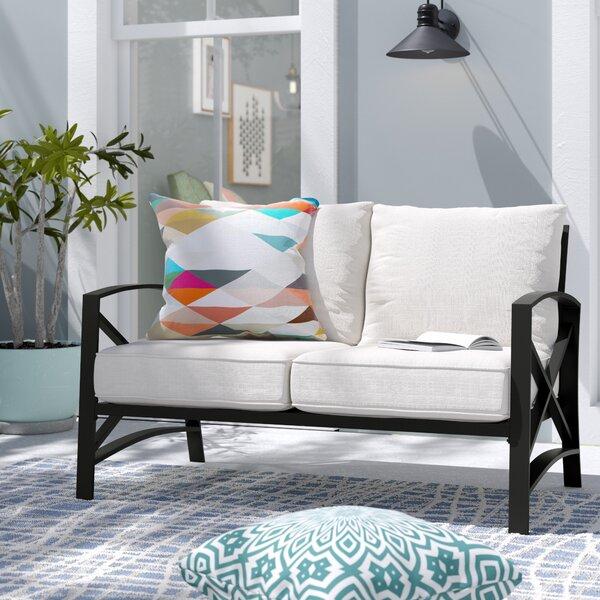 Highland Dunes Tarpley Loveseat with Cushions & Reviews | Wayfa