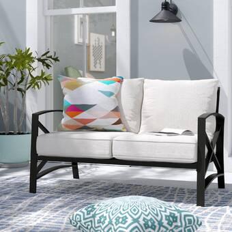 Ivy Bronx Freitag Patio Sofa with Cushions | Wayfa