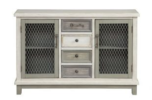 Fugate 2 Door Credenza | Solid wood dining chairs, Farmhouse .