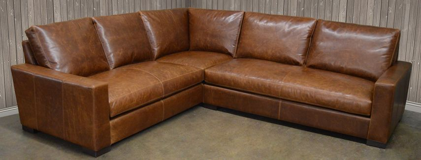 Leather Sectional: Full Grain and Top Grain Leather comes 133x133 .