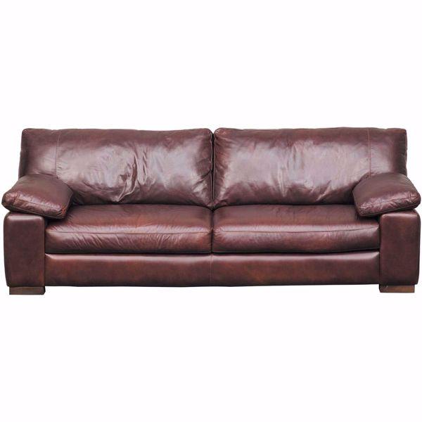 Barcelona All Leather Sofa | 4441S BARCELONA LT BRN 40001 | Soft .