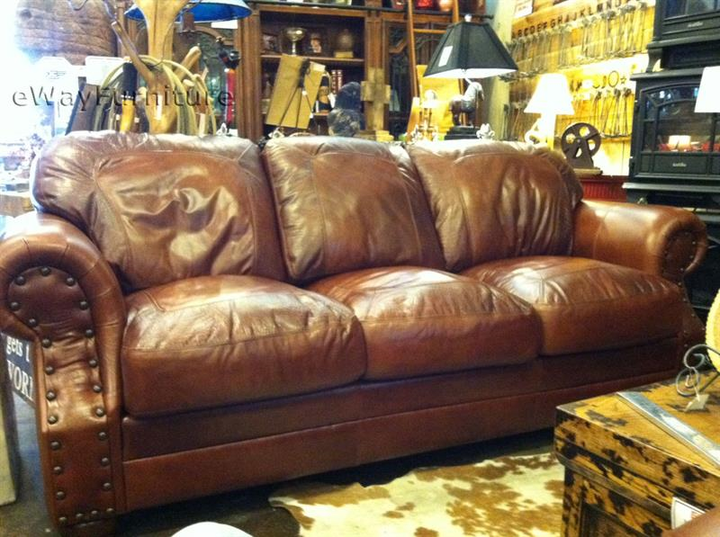 Two Toned Top Grain Leather Cowboy So