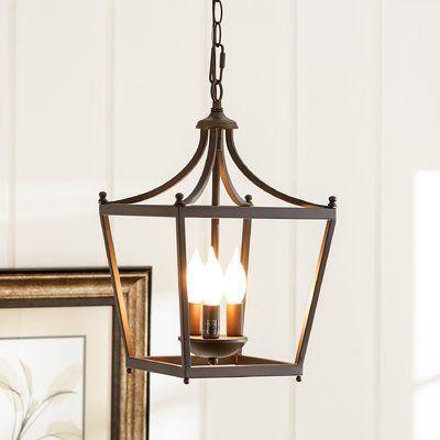 Birch Lane™ Heritage Gabriella 3-Light Lantern Chandelier Finish .