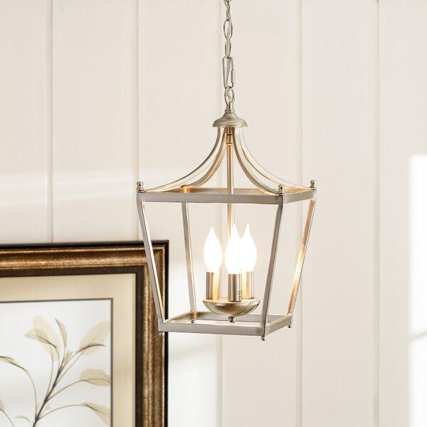 Birch Lane™ Gabriella 3 - Light Lantern Geometric Pendant .