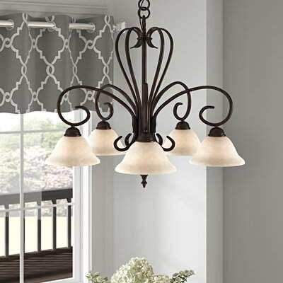 Gaines 5 Light Shaded Chandeliers